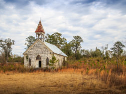 Abandoned Presbyterian Church in the Black Belt of Alabama
