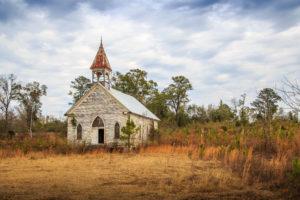 Historic Presbyterian Church in Sumter County, Coatopa, Alabama. Erected in the late 1800s.